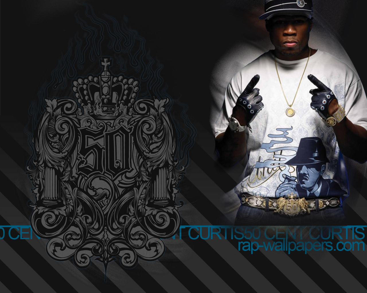 To save right click on the wallpaper and choose 'Save Picture As' 50 Cent