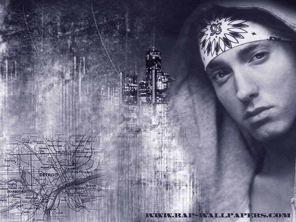 Eminem black white picture