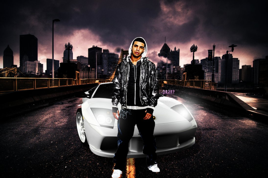 rap wallpapers drake with car