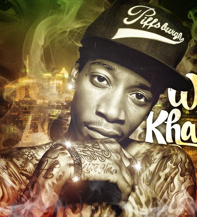 rap wallpapers wiz khalifa name 2
